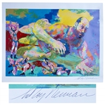 LeRoy Neiman Signed Serigraph of Olympic Wrestler David Schultz, Killed by John Du Pont at Foxcatcher
