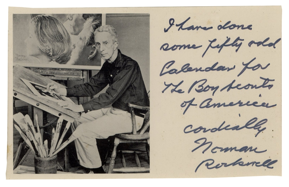 Norman Rockwell Personally Used Paintbrush -- With Letter Signed by Rockwell, Gifting the Paintbrush