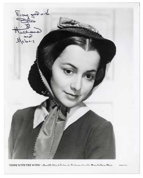 Olivia de Havilland Signed 8'' x 10'' Photo From ''Gone With the Wind''