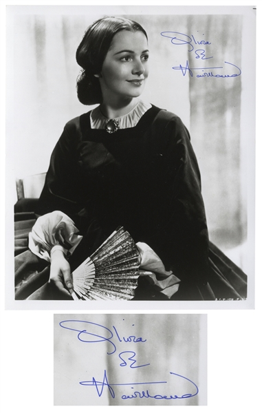 Olivia de Havilland Signed 8'' x 10'' Photo as Melanie From ''Gone With the Wind'' -- With JSA COA