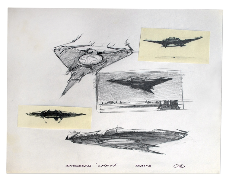 Ralph McQuarrie art Alien Concept Original Drawings by Famed Artist Ralph McQuarrie -- 52 Sheets With Dozens of Drawings