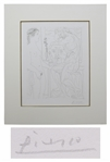 Pablo Picasso Signed Modèle nu et Sculptures Etching -- From the Desirable Vollard Suite of Etchings