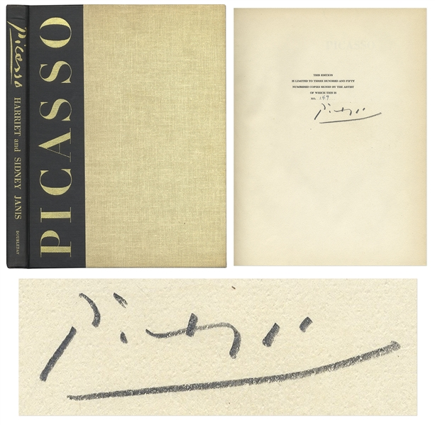 Pablo Picasso Signed Limited Edition of ''Picasso: The Recent Years 1939-1946'' -- Near Fine