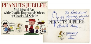 Charles Schulz Signed Drawing of Snoopy