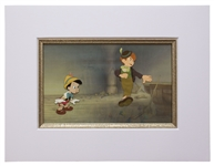 Large Pinocchio Cels of Pinocchio and Lampwick From the Original 1940 Disney Film