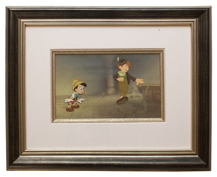 Large ''Pinocchio'' Cels of Pinocchio and Lampwick From the Original 1940 Disney Film