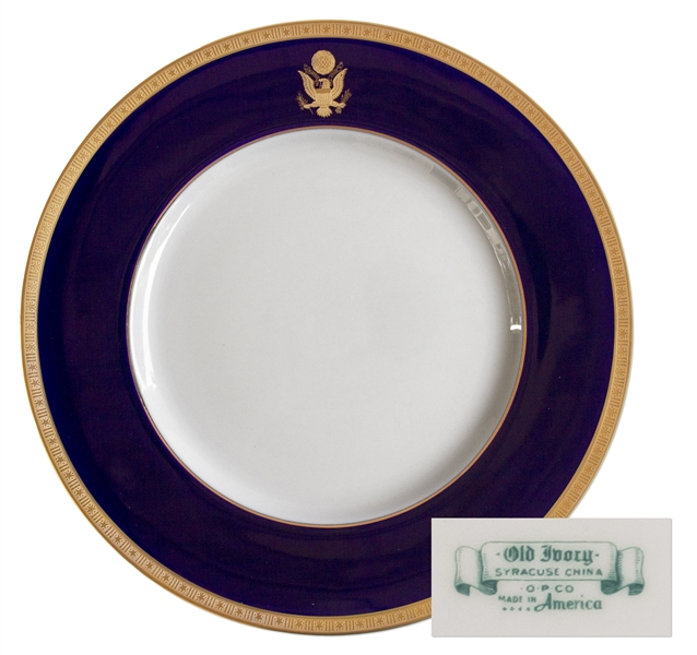 China Dinner Plate Used During the Reagan Administration