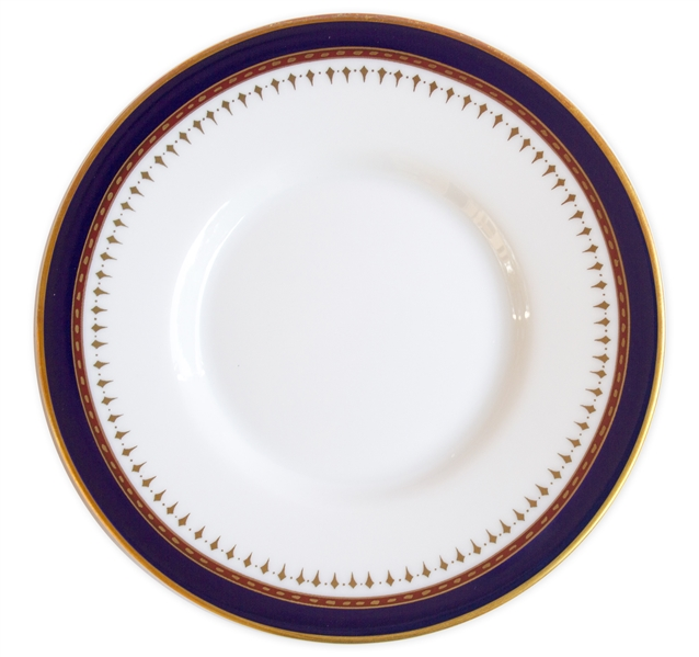 Ronald Reagan Presidential China Cup & Saucer -- Beautiful Design in Navy and Gilt