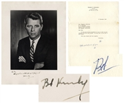 Robert Kennedy Signed 10 x 12 Photo & Letter Signed, With Additional Autograph Note Signed -- From November 1964 After He Won Election as New York Senator