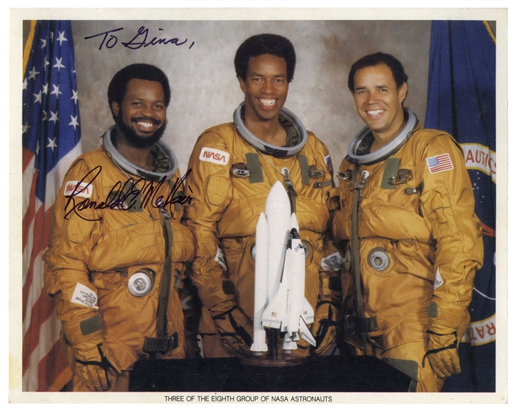 Challenger Astronaut Ron McNair Lot of Two Signed Photos & Autograph Letter Signed -- ''...I wish you the best as you continue to excel, persevere, and be somebody...What is your ambition?...''