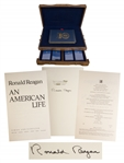 Ronald Reagan Signed An American Life Special Limited Edition -- Housed in Luxury Oak Case With Audiotapes