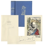 Salvador Dali Signed Signed Limited Edition of Essays of Michel de Montaigne -- Illustrated by Dali
