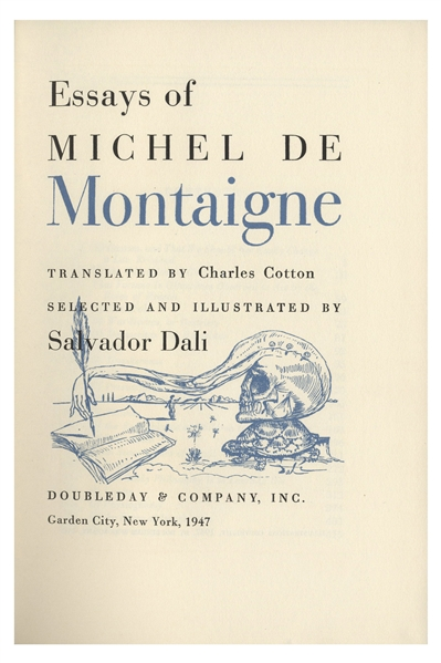 Salvador Dali Signed Signed Limited Edition of ''Essays of Michel de Montaigne'' -- Illustrated by Dali