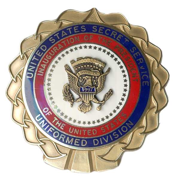 Secret Service Badge for Bill Clinton's 1997 Inauguration