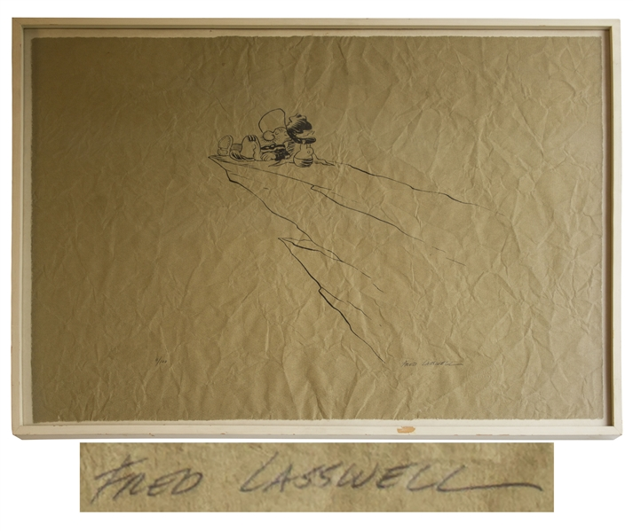 Fred Lasswell Signed Limited Edition of Snuffy Smith