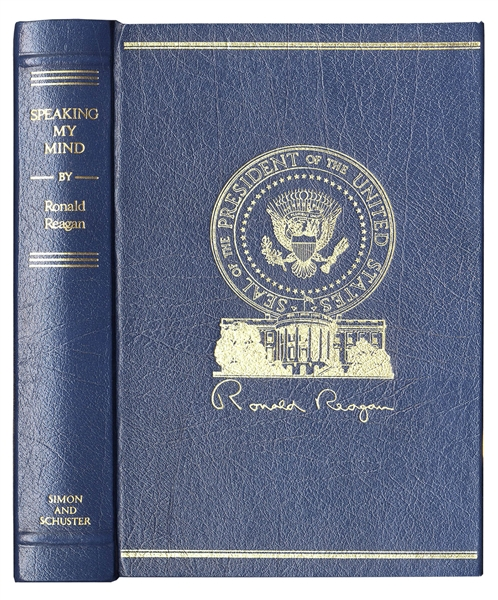 Ronald Reagan Signed Limited Edition of His Speeches, ''Speaking My Mind''