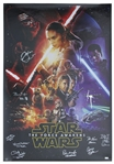Star Wars: The Force Awakens Cast Signed Poster Measuring 27 x 40 -- Signed by 11 of the Cast, With COAs From Celebrity Authentics