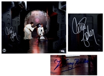 Star Wars Signed 20 x 16 Photo by Carrie Fisher and Kenny Baker, Who Portrayed R2-D2 -- With PSA/DNA COA