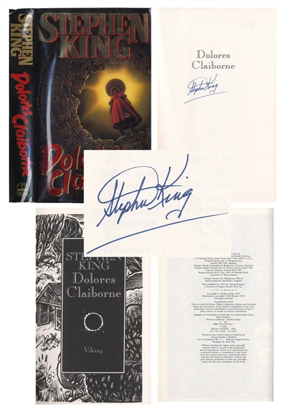 Stephen King Signed First Edition of ''Dolores Claiborne''