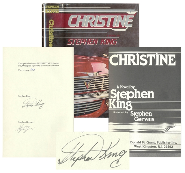 Stephen King Signed Limited Edition of ''Christine'' -- Near Fine Condition