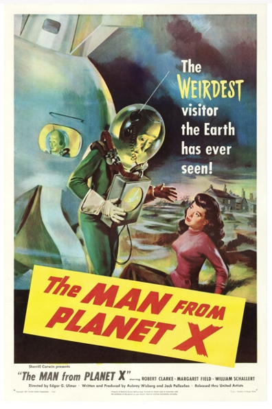Classic Sci-Fi B-Movie One Sheet for the 1951 Film ''The Man from Planet X''