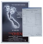 The Omen Production Budget & Poster -- Originally Entitled Birthmark