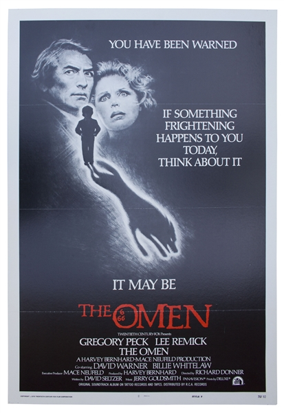 ''The Omen'' Production Budget & Poster -- Originally Entitled ''Birthmark''