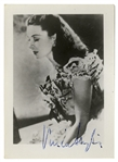 Vivien Leigh Signed Photo as Scarlett OHara -- With JSA COA