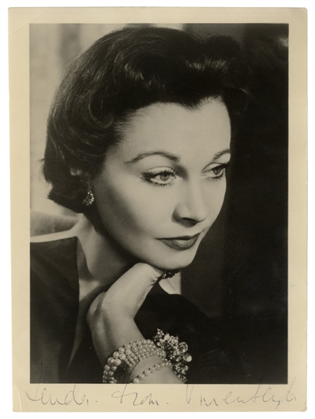 Vivien Leigh Signed Photograph Taken by Angus McBean
