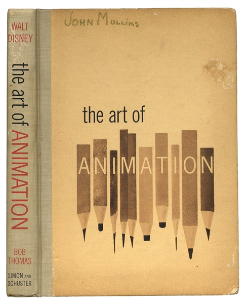 Bold, Fanciful Walt Disney Signature in ''The Art of Animation'' -- Countersigned by 21 Legendary Disney Artists