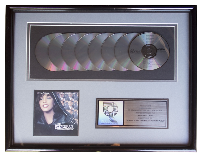 Whitney Houston RIAA Platinum Award for ''The Bodyguard'' Soundtrack