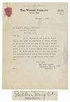 Wilbur Wright Letter Signed From 1912 in Which He, In the Interest of Good Sport Allows Patent Infringing Aeroplanes to Participate in World Famous Race