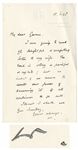Winston Churchill Autograph Letter Signed -- ...The road is strong + painful + uphill...