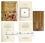 Winston Churchill Signed Copy of His Classic Work, A History of the English Speaking Peoples -- First Editions in Original Dust Jackets