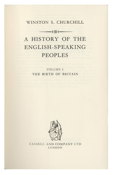 Winston Churchill Signed Copy of His Classic Work, ''A History of the English Speaking Peoples'' -- First Editions in Original Dust Jackets