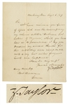 Zachary Taylor Letter Signed as President With Virginia Reference -- Taylor Was President for Only 16 Months