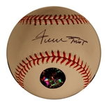 Willie Mays Signed OML Baseball -- With Mays Say Hey Hologram