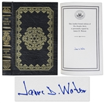 James D. Watson The Double Helix Signed -- 22K Gold Detailing