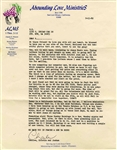 Charles Tex Watson Typed Letter Signed From Prison -- ...We must be ready to meet Jesus at anytime...