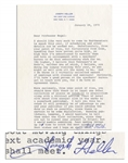 Joseph Heller Letter Signed -- ...speaking fees have gotten quite high...No higher, I believe than Vonneguts or Roths...