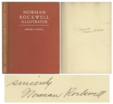 Norman Rockwell Biography Signed -- Fully Illustrated 1946 Edition of Norman Rockwell Illustrator Signed Clearly by Rockwell