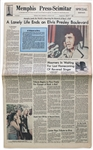 Elvis Presley Newspaper From His Hometown of Memphis -- A Tribute to Elvis After His 16 August 1977 Death