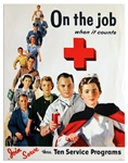 Vintage Red Cross Poster -- On The Job