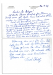 Karl Donitz Autograph Letter & Accompanying Donitz Signed Cover -- WWII German Admiral Expresses Thanks for Gift of Model Ship