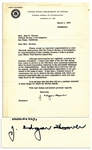 J. Edgar Hoover Letter Signed -- ...during your years of service in the FBI there were numerous instances when we faced tremendous obstacles...