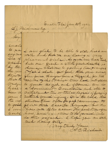 Lincoln Assassination Letter by Policeman Who Hunted Conspirators -- ''...as to the...disposition of the remains of J. Wilkes Booth...''