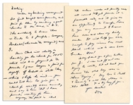 Dwight Eisenhower WWII Autograph Letter Signed -- ...We get pounds at a favorable rate...It will help you save enough to pay income tax next March which will be some 2000 bucks. Wow!...