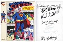 Superman From the 30s to the 70s -- Signed by 9 of Supermans Contributors Including Illustration Team Curt Swan & Murphy Anderson & Death of Superman Artists Janke and Bogdanove