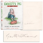 Garth Williams Hand-Drawing for the Cover Art of Emmetts Pig -- Signed by Williams on Verso