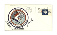 Apollo 15 Crew-Signed NASA Insurance Cover -- With COA From Al Worden